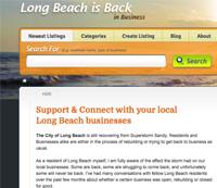 Long Beach Is Back Website