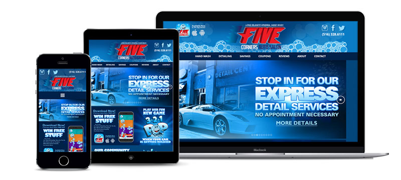 Website- Five Corners Auto Salon